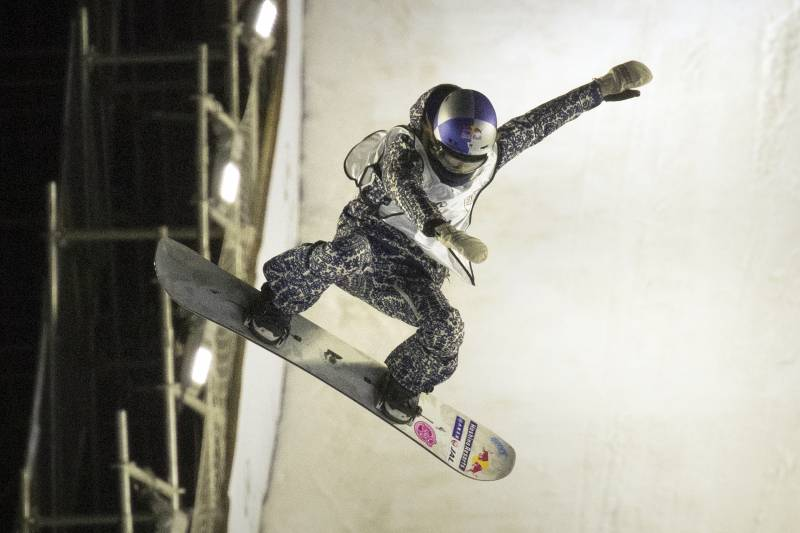 d33287626a69 Miyabi Onitsuka of Japan competes in the FIS Snowboard World Cup Big Air  event at the