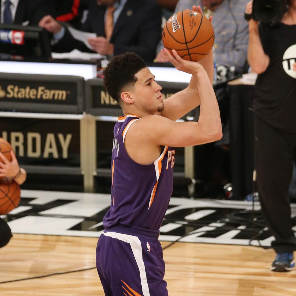 Devin Booker Wins 2018 NBA 3-Point Contest: Full Scores and Reaction | Bleacher Report | Latest ...