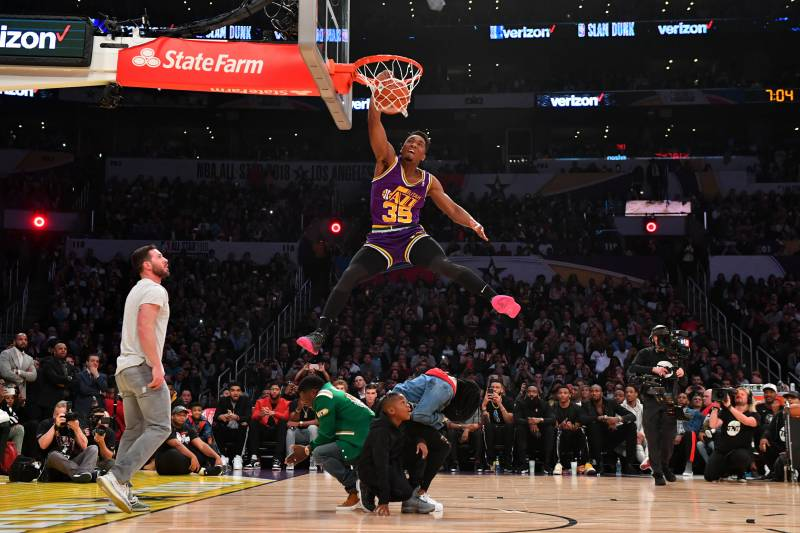 Image result for donovan mitchell dunk contest dunks