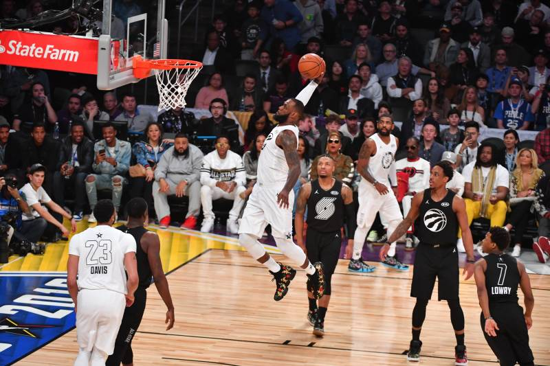 ac7c522a7a3 NBA All-Star Game 2018  LeBron James Wins MVP as Team LeBron Beats ...