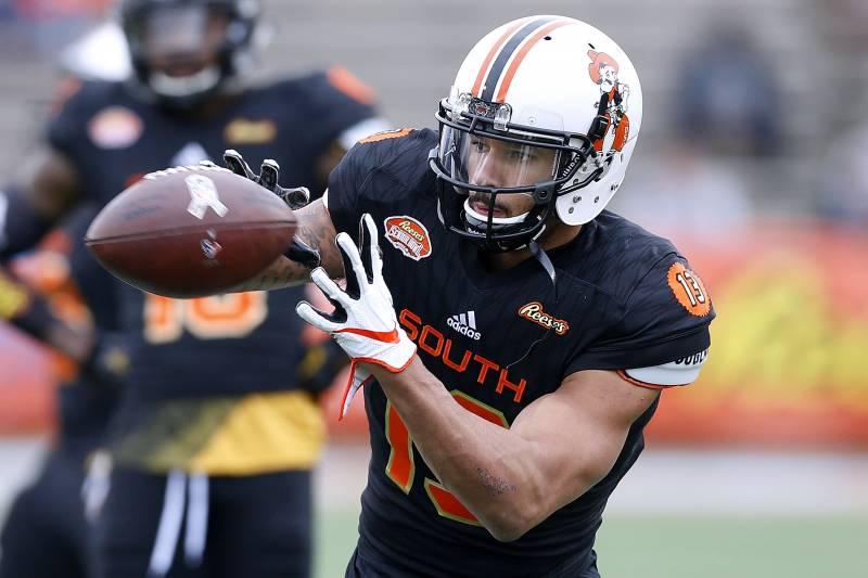 f6b07eda3 49ers NFL Draft 2018 Rumors  San Francisco  High  on WR Marcell Ateman