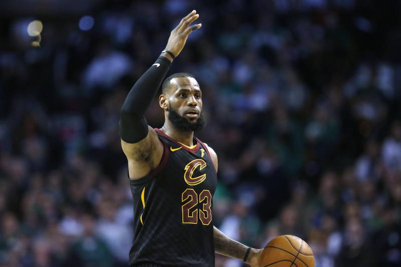 37f46e750c4 Cleveland Cavaliers' LeBron James plays against the Boston Celtics during  the third quarter of an