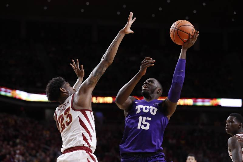 March madness 2018 highlighting tournaments most dangerous bubble ames ia february 21 jd miller 15 of the tcu horned frogs publicscrutiny Images