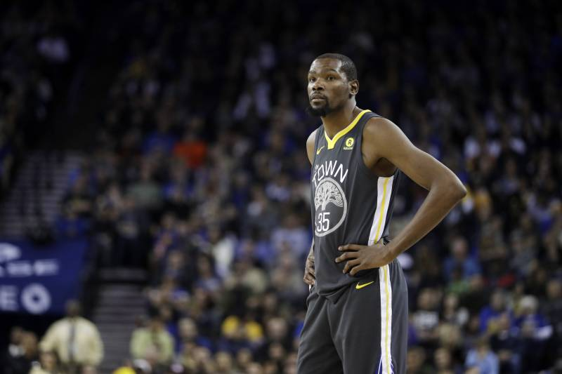 6415b7472155 Golden State Warriors  Kevin Durant (35) during the first half of an NBA. Marcio  Jose Sanchez Associated Press