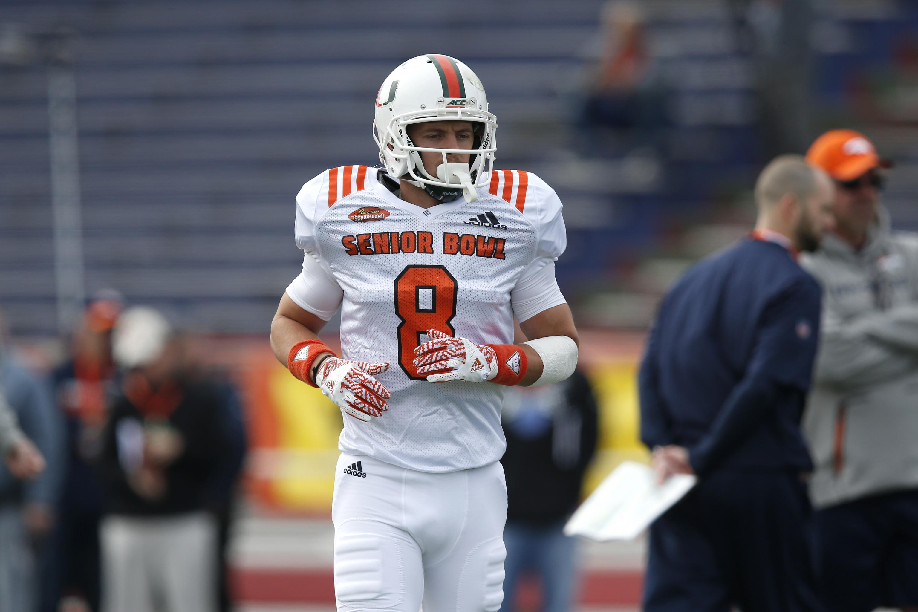 separation shoes 05e58 50f80 Braxton Berrios: Odd Interviews with NFL Teams Included ...