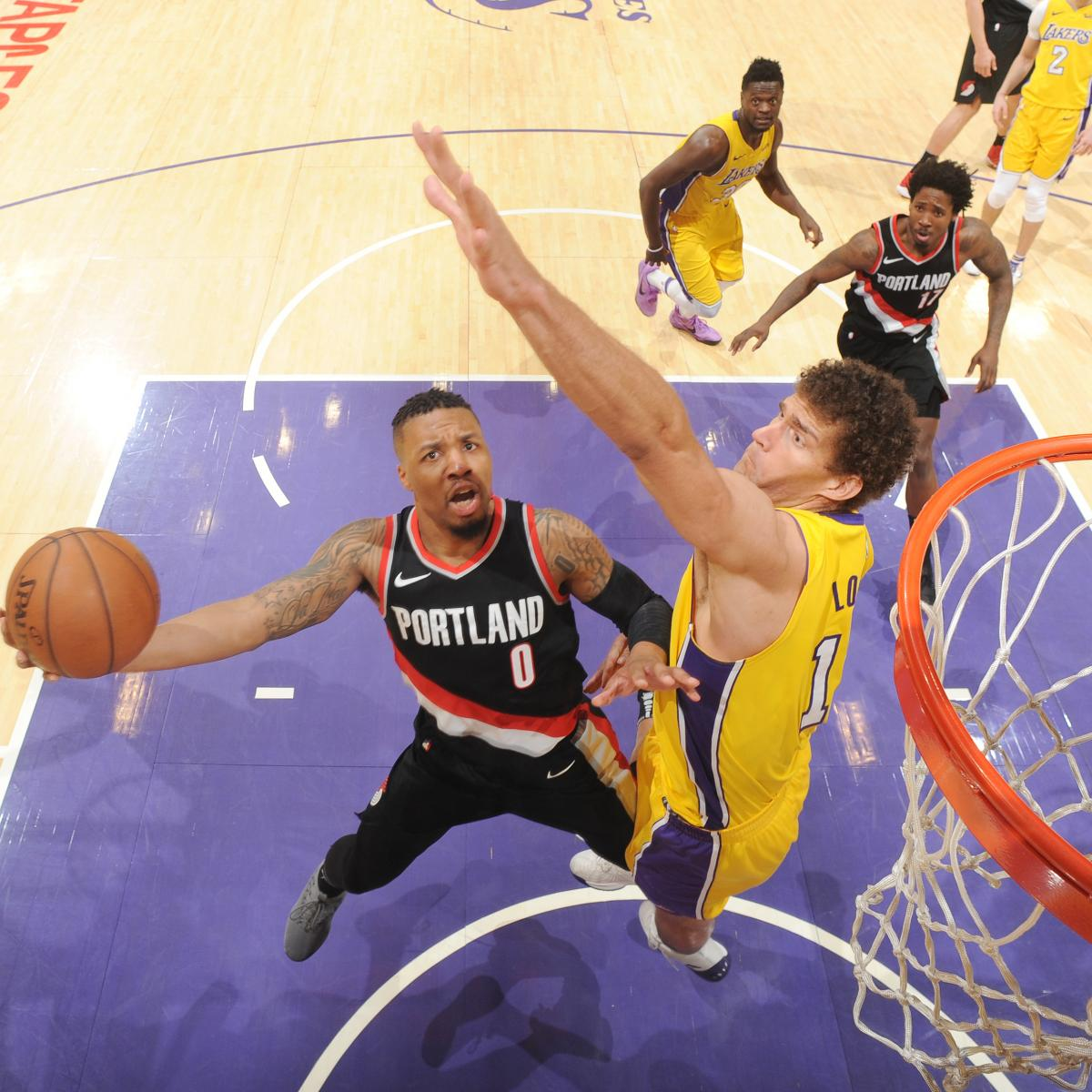 Blazers Vs Lakers: Full Damian Lillard Highlights As Dame Time Explodes For