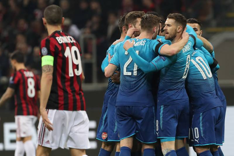 Image result for Arsenal 2-0 AC Milan