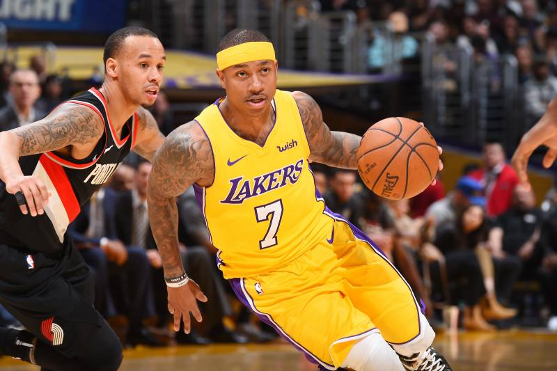 new style 2a1cf d10d0 Lakers News: Isaiah Thomas Switches to Jersey No. 3 ...