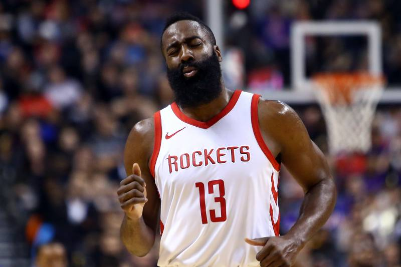 e91cbbcd1 Rockets  17 Game Win Streak Snapped in Loss to Raptors  James Harden Drops  40