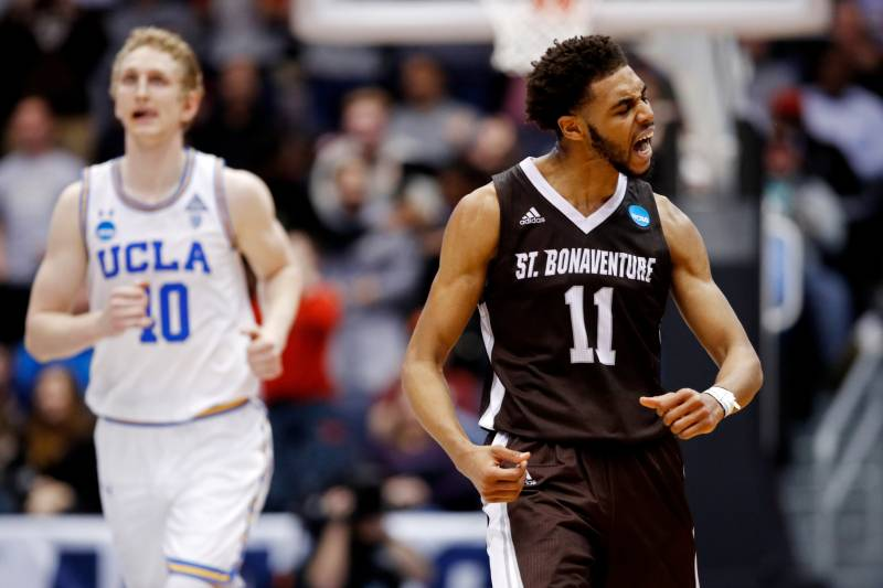 the best attitude e7c99 931b2 Courtney Stockard Leads St. Bonaventure Past UCLA in 2018 ...