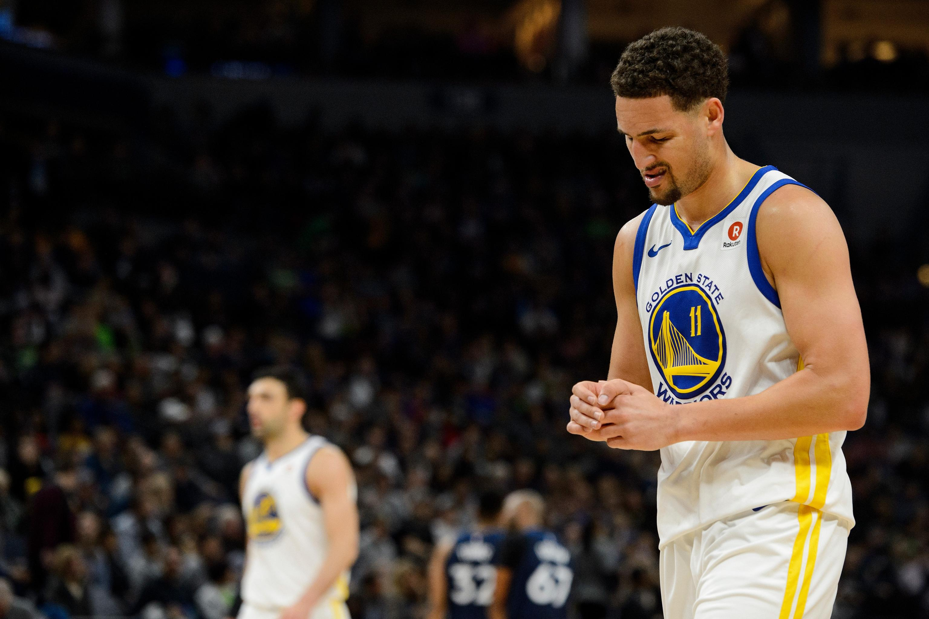 the best attitude 45340 c7440 Klay Thompson Thumb Injury Reportedly Diagnosed as Fracture ...