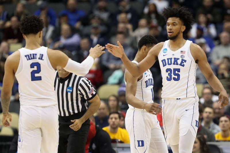 71a6a65f9b9 Marvin Bagley III Brilliant as Duke Cruises Past Iona in 2018 NCAA  Tournament