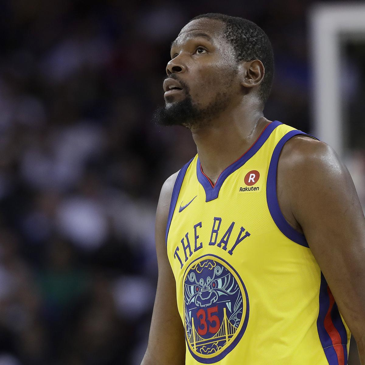 Kevin Durant Out at Least 2 Weeks After Rib Injury Diagnosed as Fracture