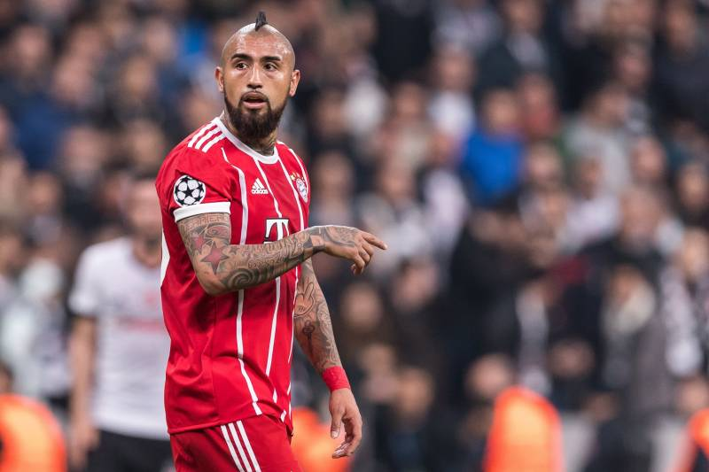 11ca1fe9290 Arturo Vidal of FC Bayern Munich during the UEFA Champions League round of  16 match between
