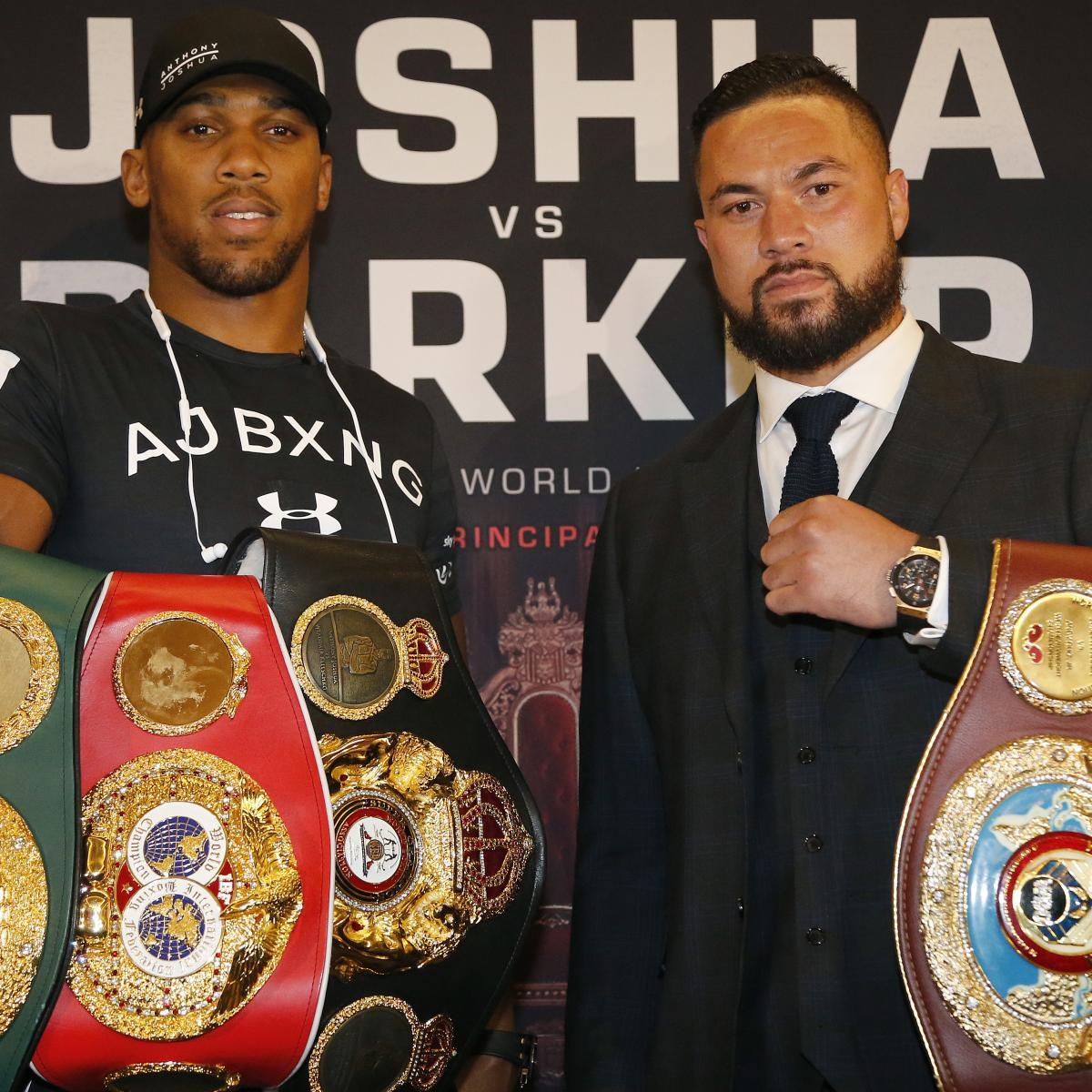 Anthony Joshua Vs. Joseph Parker: Fight Time, Date, Live