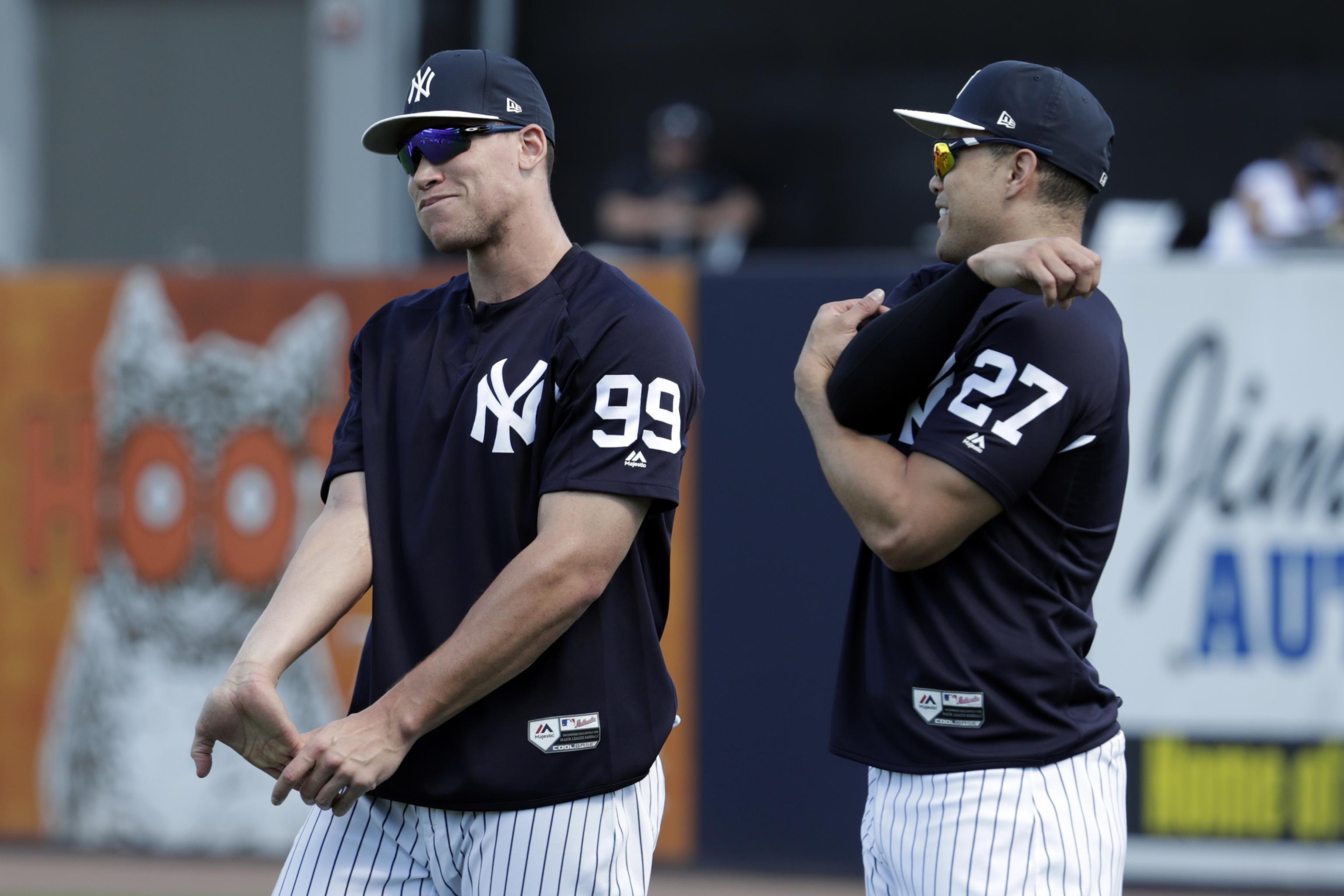 buy popular 43483 98288 Yankees May Shift Aaron Judge, Giancarlo Stanton After Aaron ...