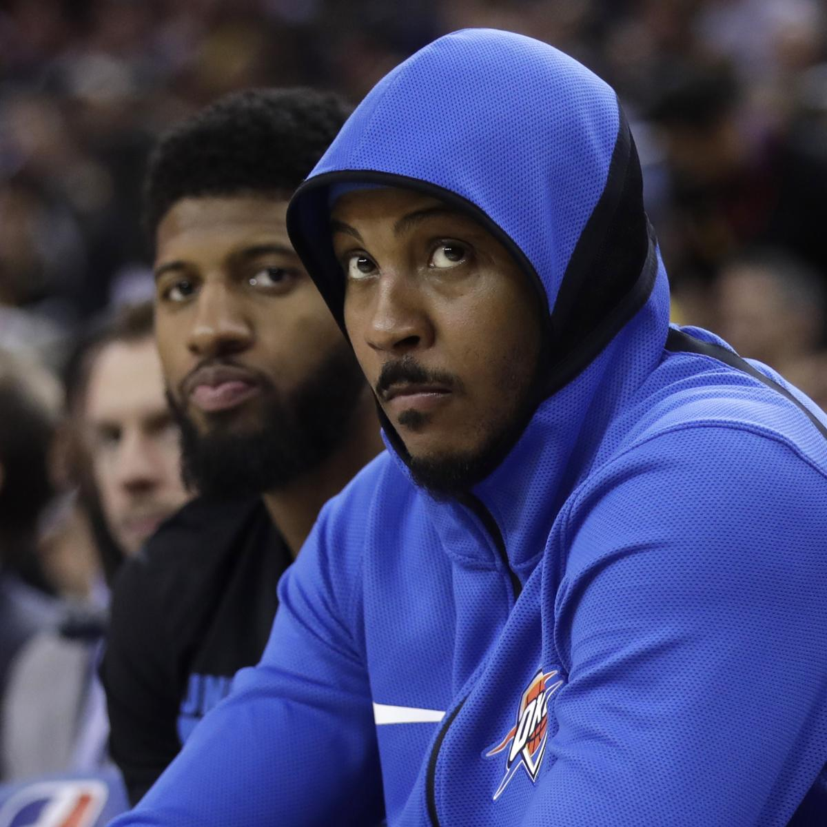 Nuggets Quarter Season Tickets: Carmelo Anthony Surprised Thunder Left Him On Bench In 4th