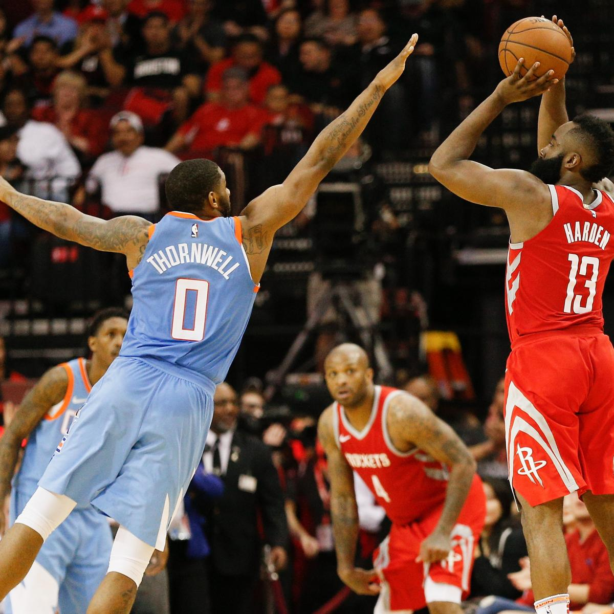 Houston Rockets Game Log: James Harden, Rockets Set NBA Single-Season Record For 3