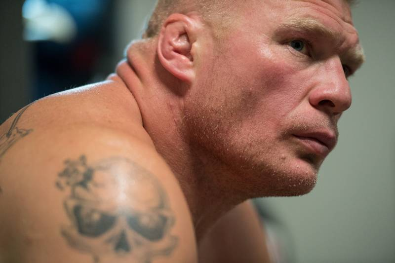 LAS VEGAS, NV - JULY 09: Brock Lesnar backstage during the UFC 200 event on July 9, 2016 at T-Mobile Arena in Las Vegas, Nevada. (Photo by Brandon Magnus/Zuffa LLC/Zuffa LLC via Getty Images)
