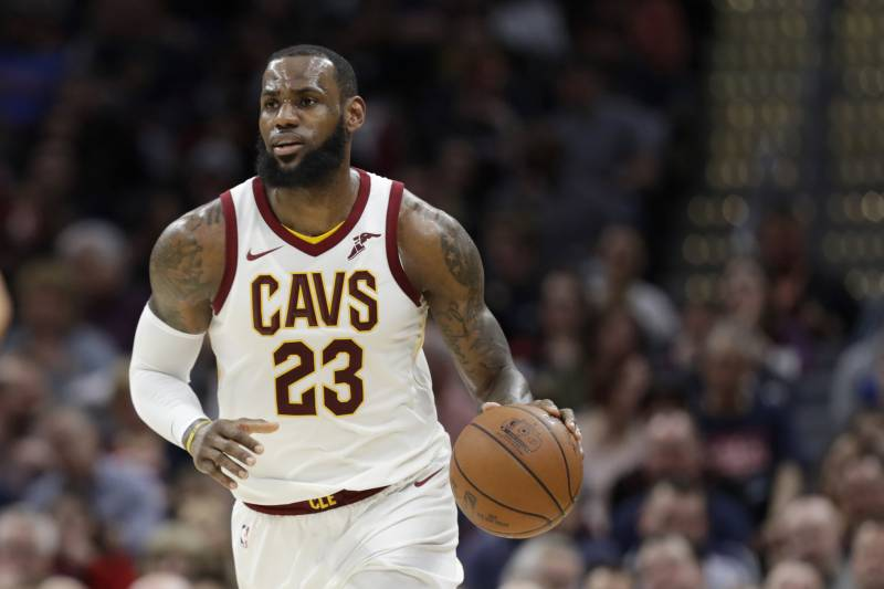 huge selection of c1eae cfbc8 Cleveland Cavaliers  LeBron James drives against the Toronto Raptors in the  first half of an