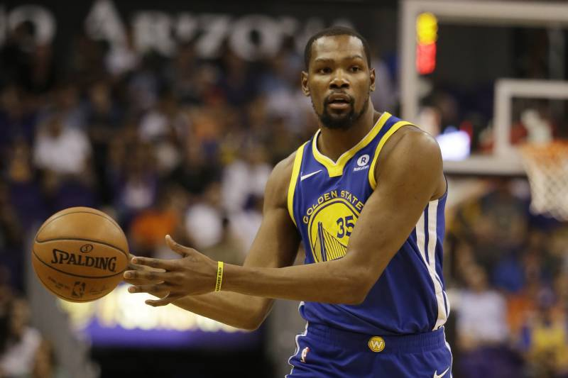 2256a21e1fa5 Golden State Warriors forward Kevin Durant (35) in the second half during  an NBA
