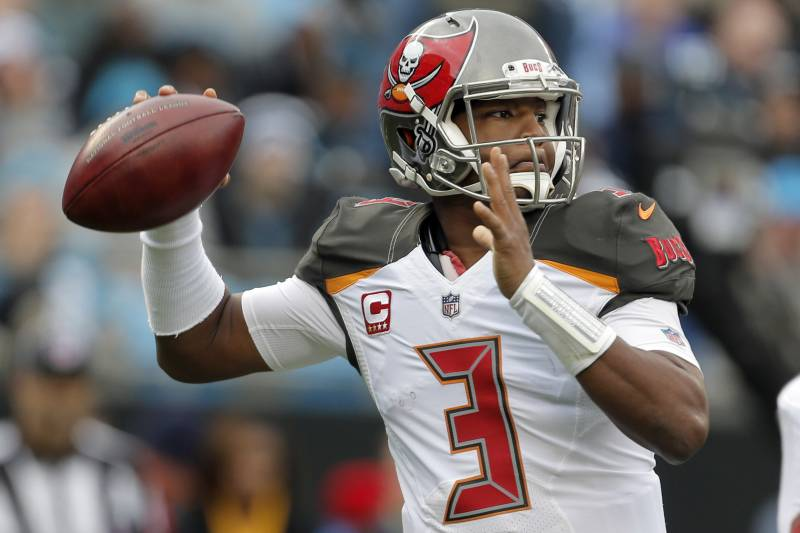 f750cc38 Tampa Bay Buccaneers' Jameis Winston (3) looks to pass against the Carolina  Panthers