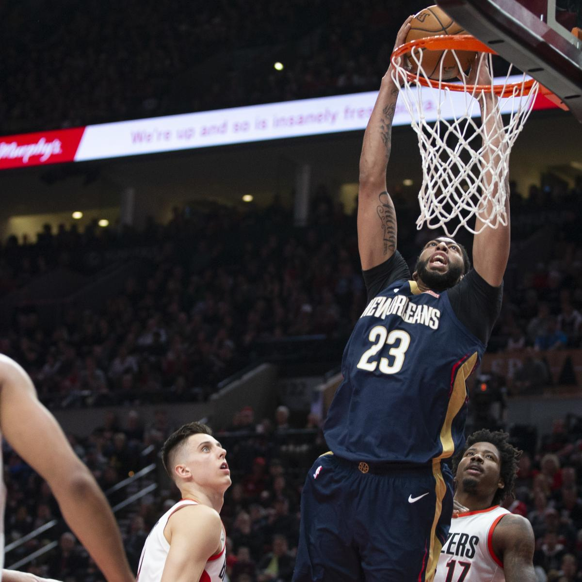 Portland Blazers Game: Anthony Davis Drops 35 As Pelicans Hang On To Beat Trail