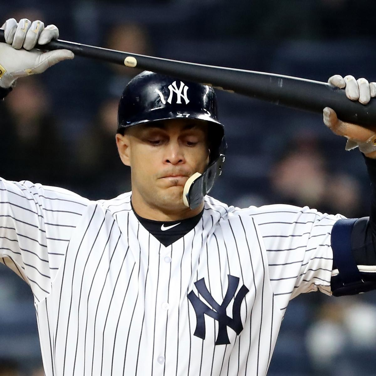 Giancarlo Stanton: Yankees News: Giancarlo Stanton Dropped To 4th In Lineup