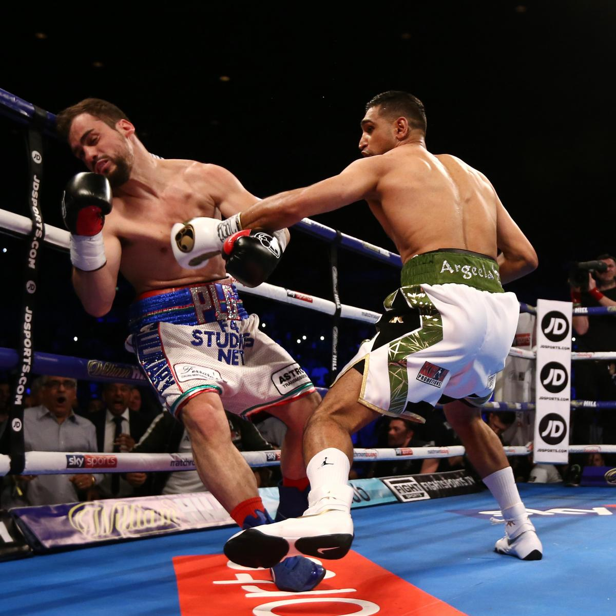 Amir Khan Beats Phil Lo Greco Via 1st-Round Knockout In