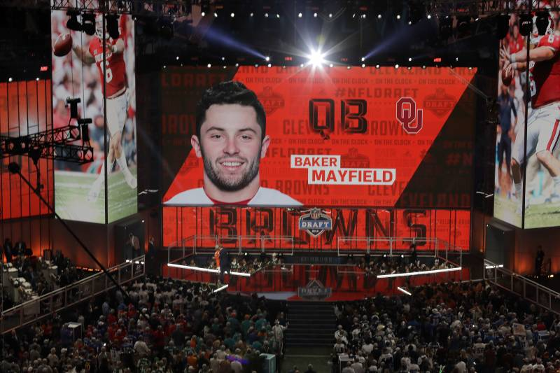 9551ce983e5 The Cleveland Browns select Oklahoma s Baker Mayfield during the first  round of the NFL football draft