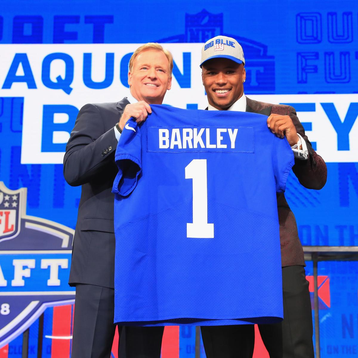 Saquon Barkley Top-Selling Rookie Jersey During 2018 NFL