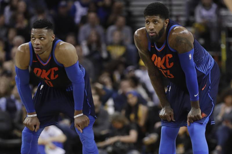 a4e1e2f9425 Paul George Says Russell Westbrook Relationship Featured  Highs and ...