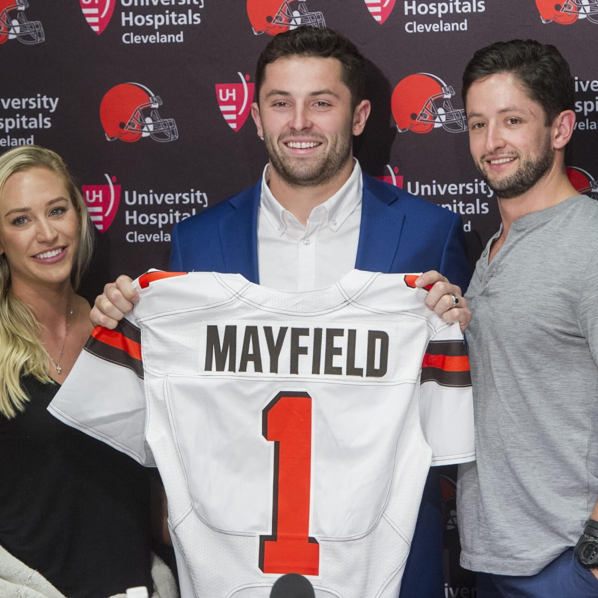 huge selection of 87e52 15a14 Baker Mayfield Reportedly Agrees to 4-Year Rookie Contract ...