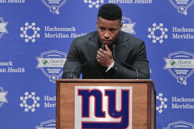 Saquon Barkley Giants Agree To Reported 4 Year Guaranteed