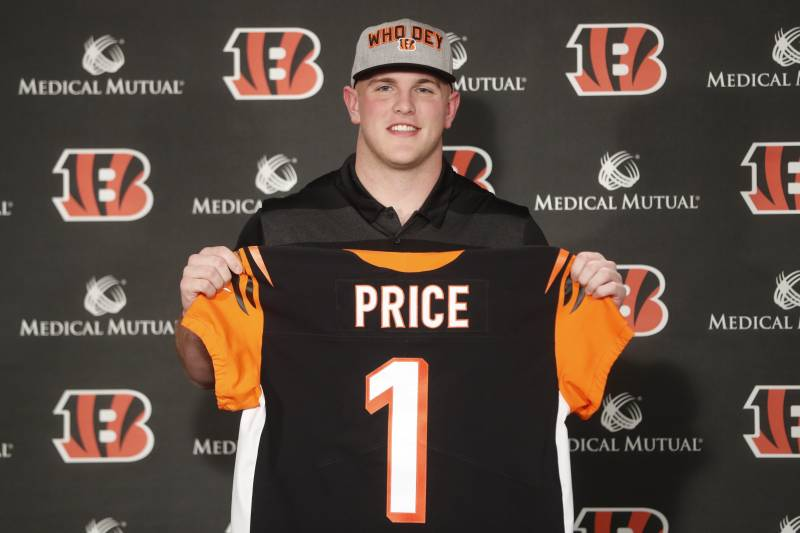68130b58 1st-Round Pick Billy Price, Bengals Agree to 4-Year Rookie Contract ...