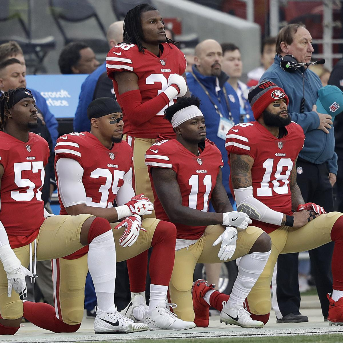 NFL Reportedly May Make Standing for Anthem a Team-by-Team Choice | Bleacher Report | Latest News, Videos and Highlights