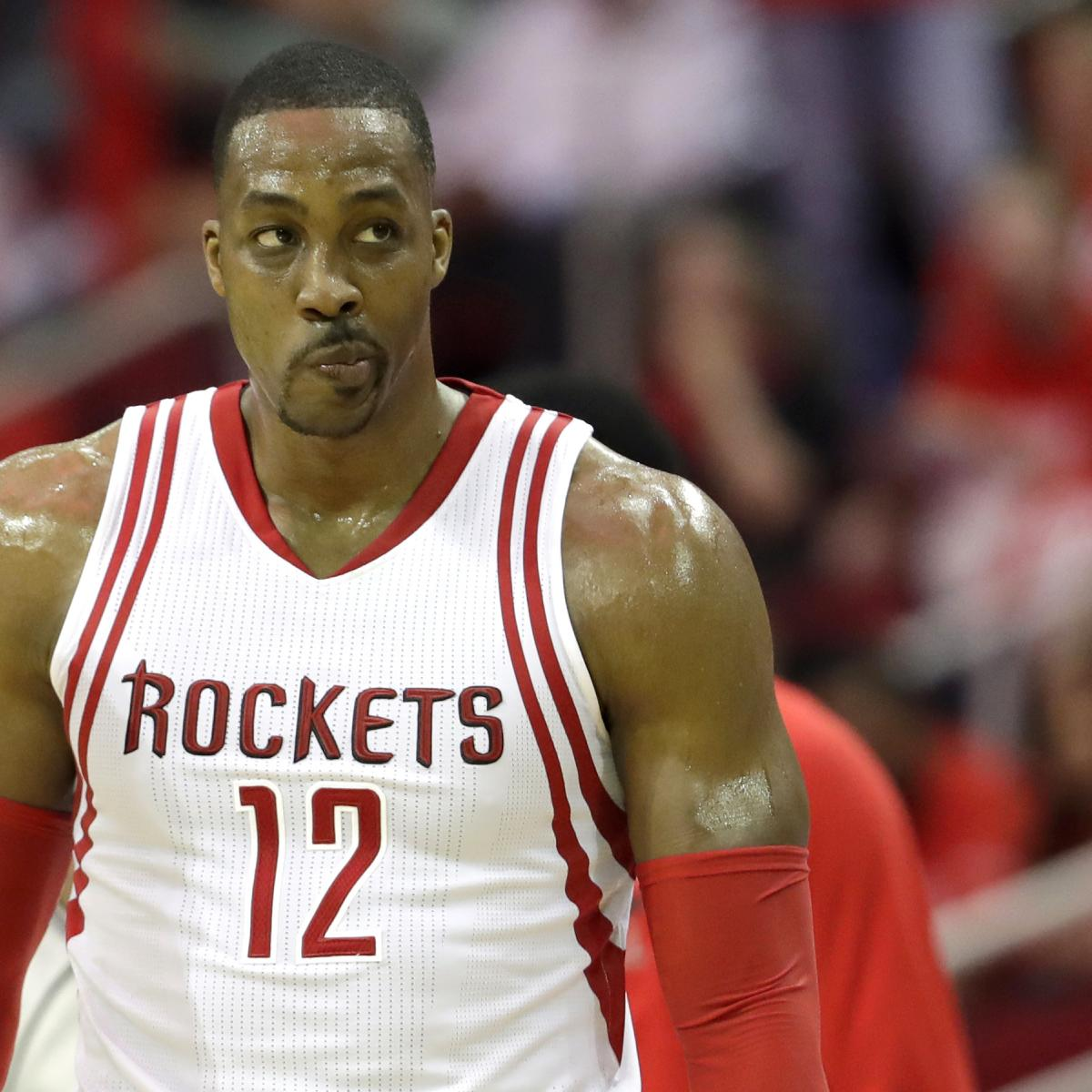 Houston Rockets Championship Roster: Dwight Howard Jokes He Doesn't Know If He Can Watch