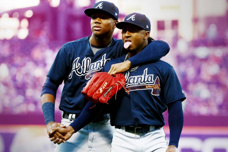 Image result for ozzie albies and ronald acuna
