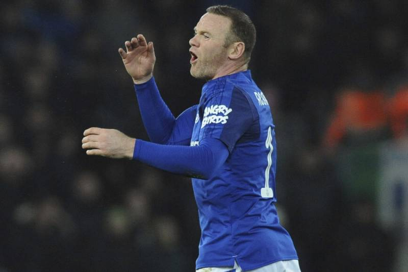 f1cc3247539 Everton's Wayne Rooney reacts during the English FA Cup Third Round soccer  match between Liverpool and