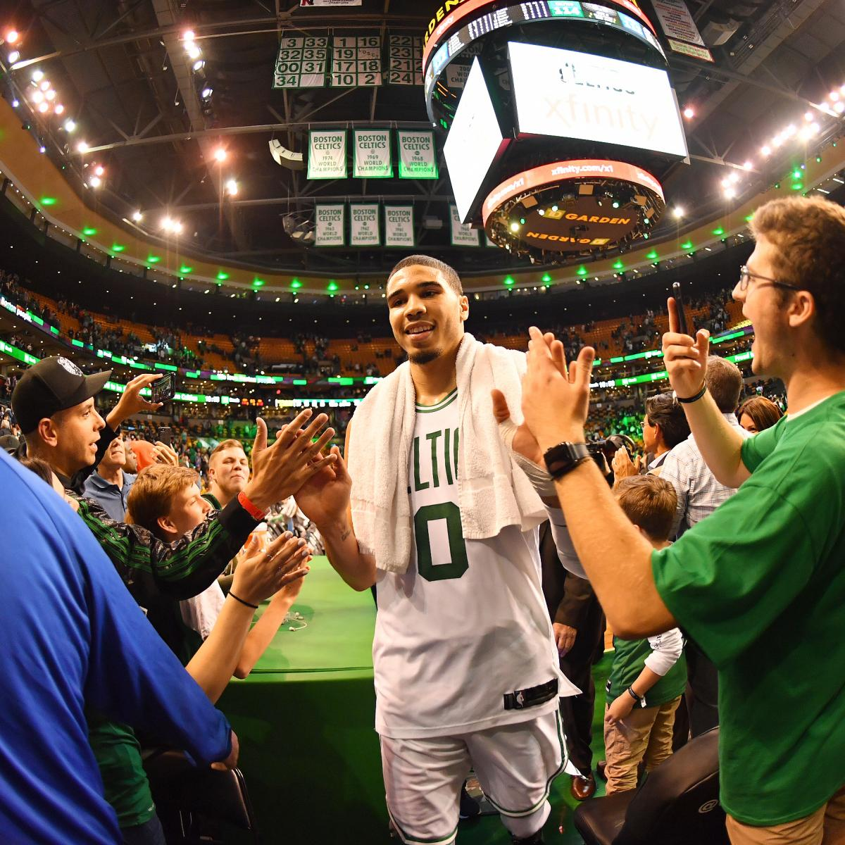 71dbf6c3f90 Jayson Tatum on Celtics Slowing Down LeBron James   I Don t Have the  Answer