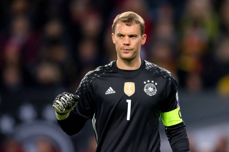 official photos e0ee4 ec05f Manuel Neuer in Germany's 2018 World Cup Provisional Squad ...