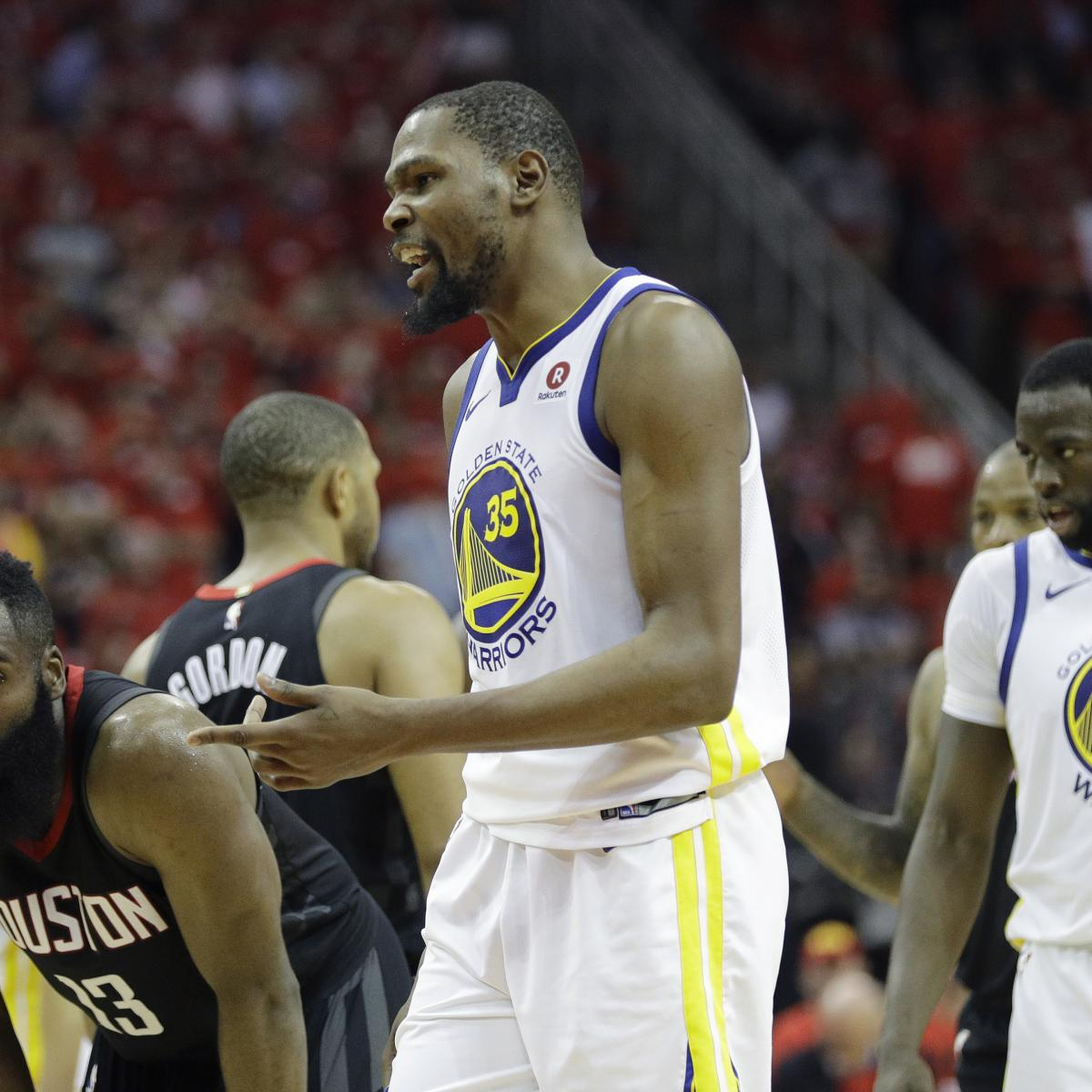 Rockets Vs Warriors Durant: Kevin Durant: 'We're Not Invincible' After Game 2 Loss Vs