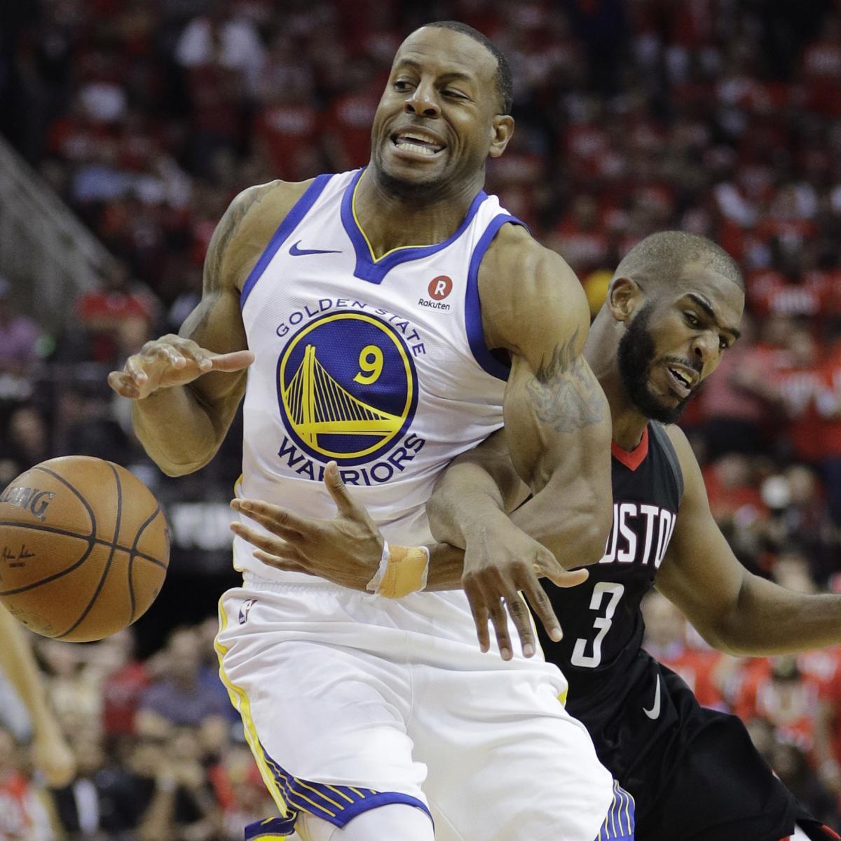 Warriors' Andre Iguodala Doubtful For Game 4 Vs. Rockets