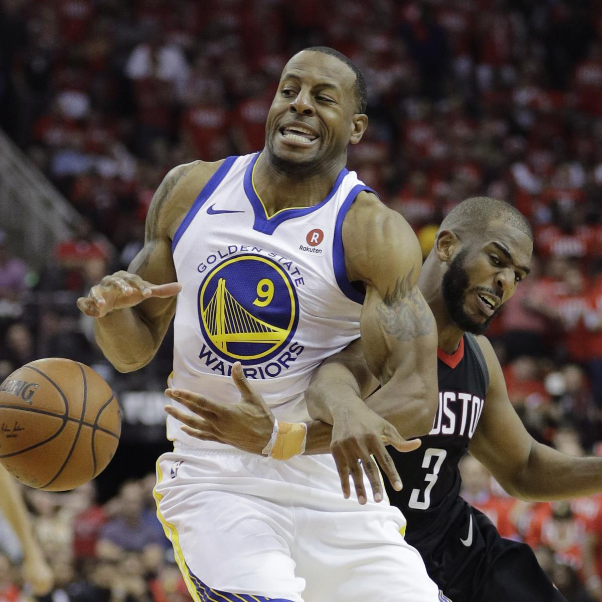 Andre Iguodala Ruled Out For Game 4 Of Rockets Vs