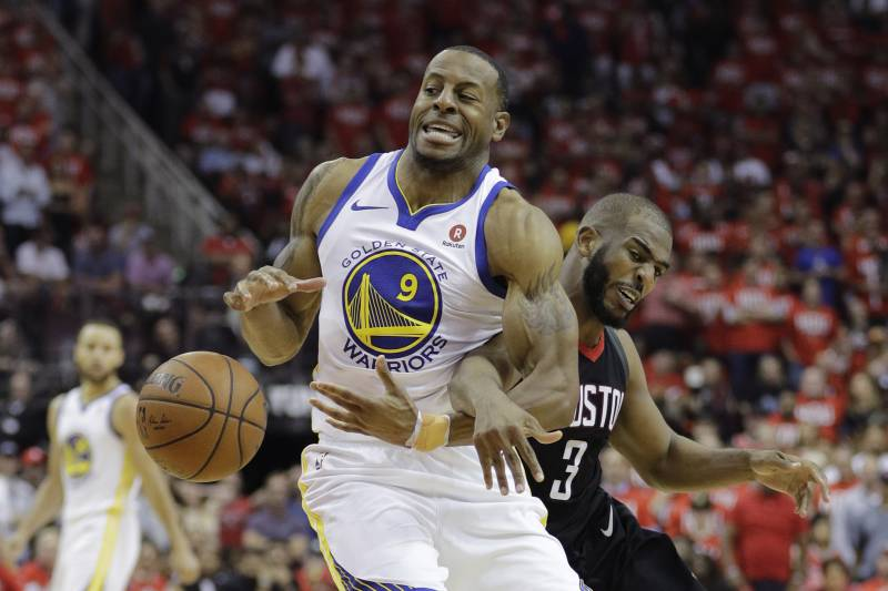 69af722d141 Andre Iguodala Ruled Out for Game 4 of Rockets vs. Warriors with Knee Injury
