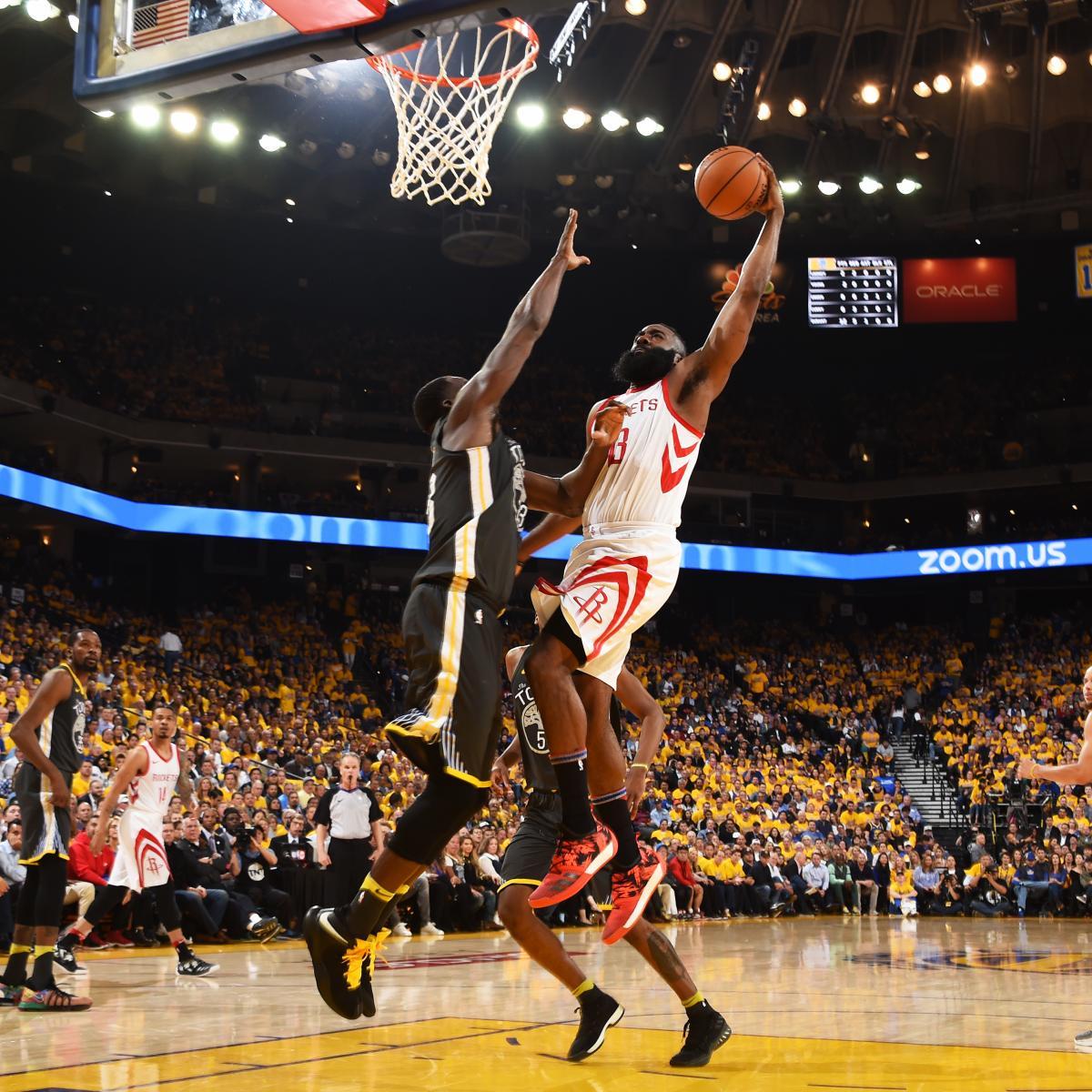 Rockets Vs Warriors James Harden: James Harden Throws Down Incredible Dunk In Game 4 Vs