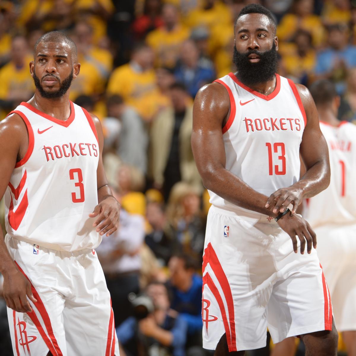 Rockets Vs Warriors James Harden: James Harden, Chris Paul Carry Rockets To Crucial Game 4