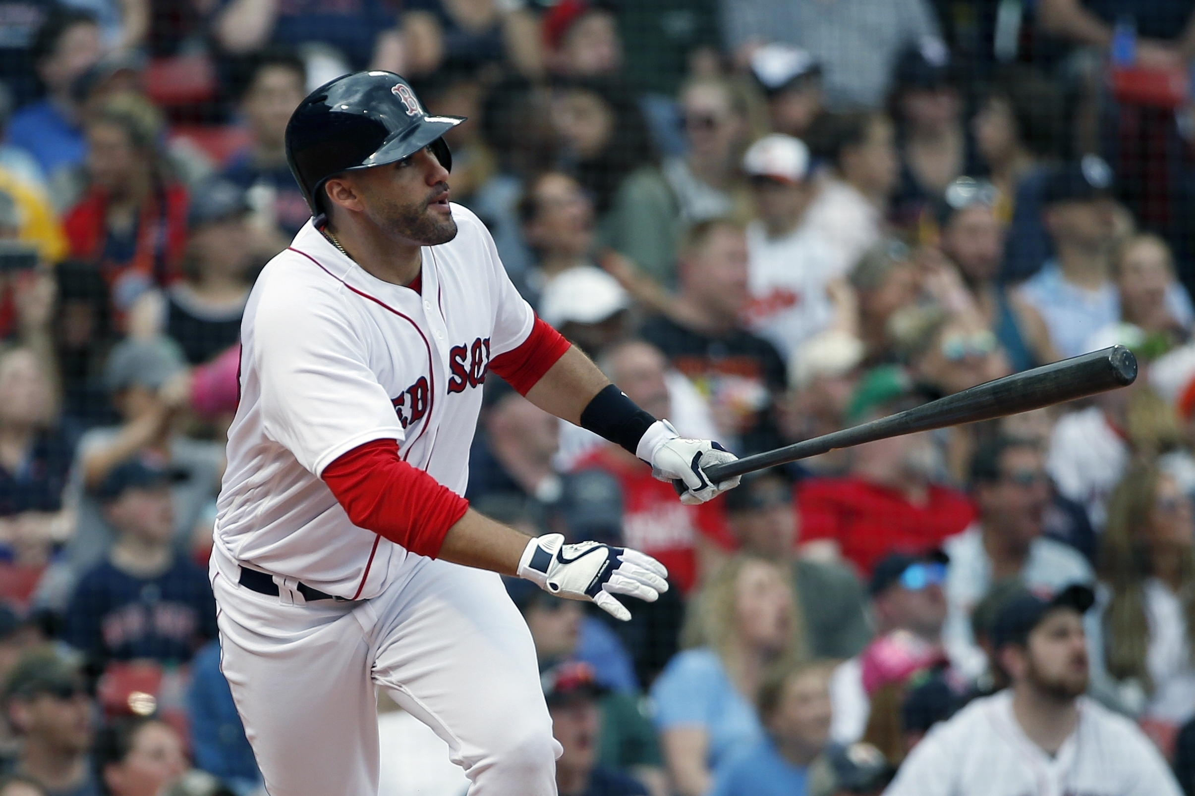 cheap for discount 589c7 4d274 J.D. Martinez Becoming the Anti-Sandoval for Boston Red Sox ...