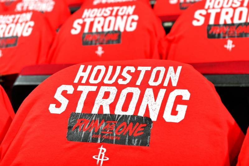 brand new 46664 c86f7 Rockets Honor Victims, 1st Responders from Texas HS Shooting ...