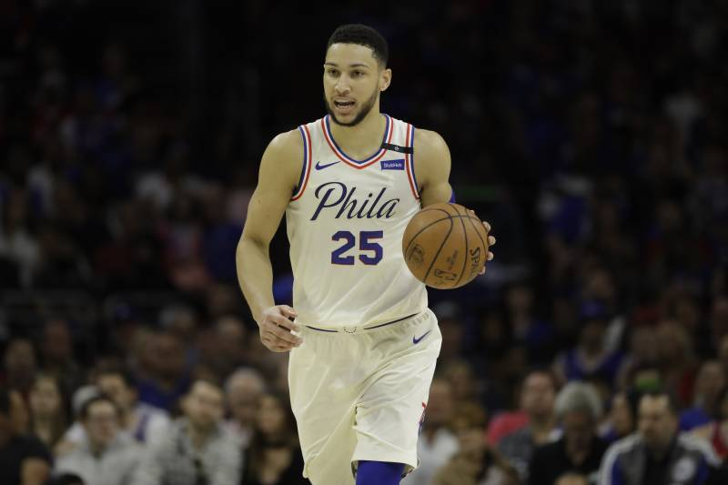 Philadelphia 76ers  Ben Simmons in action during Game 3 of an NBA  basketball second- ee9e151c9